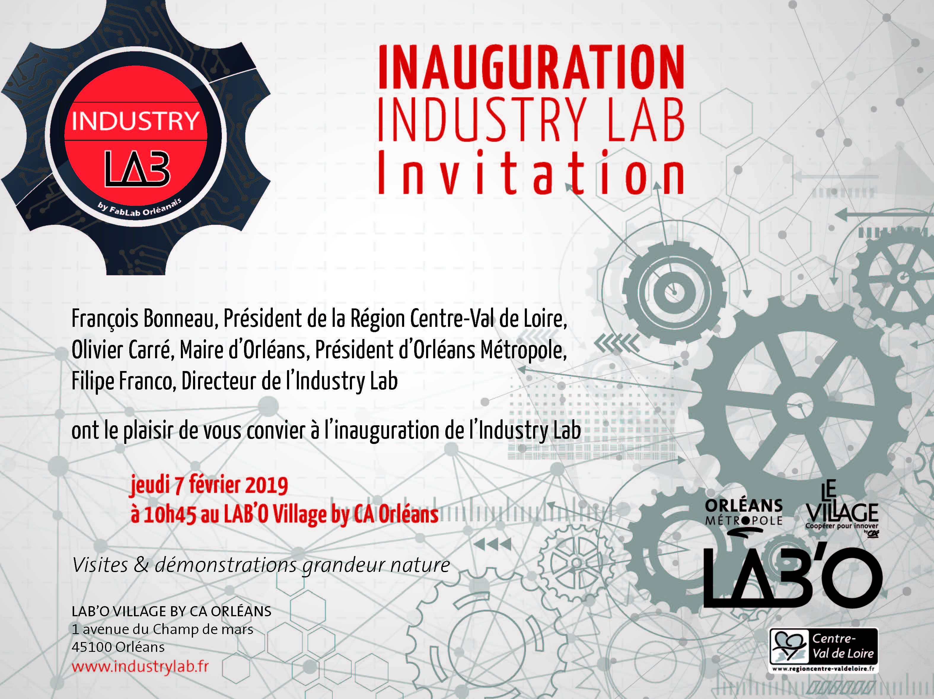 Invitation Industry Lab 07022019